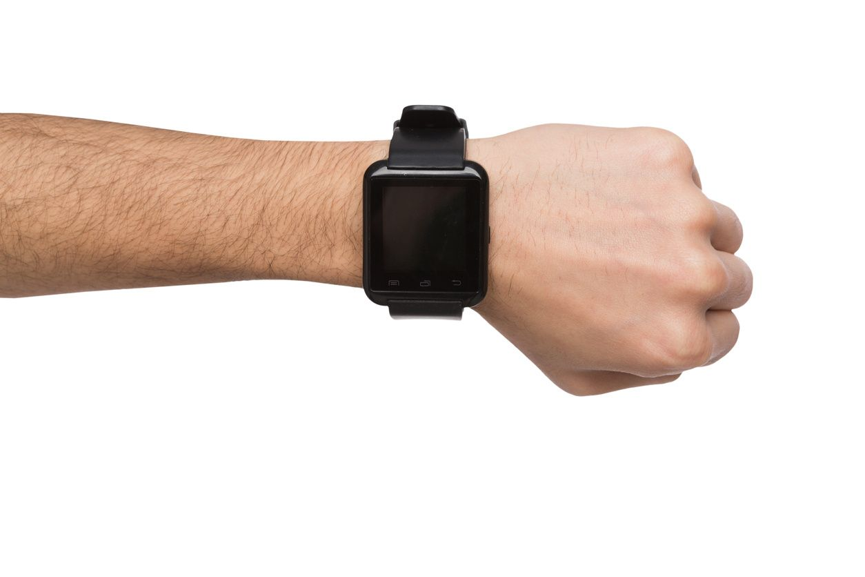Smart watch on a person's hand