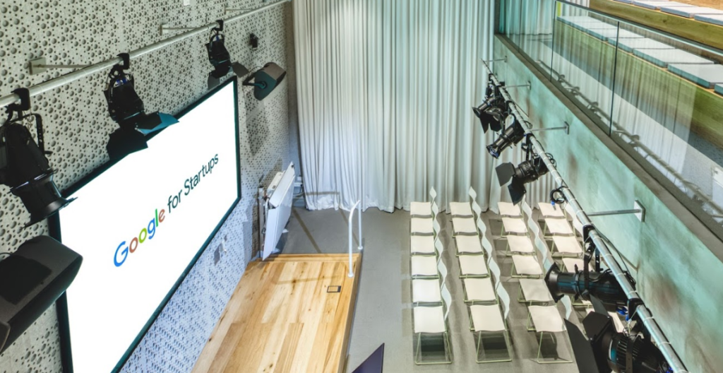 Image of the accessible auditorium of Google for Startups