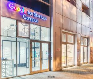 Image of Google For Startups Entrance.