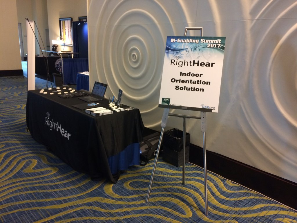 Photo of our booth at M-Enabling Summit Conference